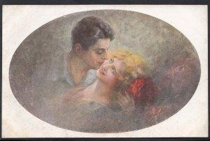 Romance Postcard - Loving Couple Scene - Rapimento   F613