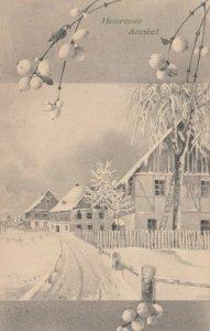 M.M.VIENNE : PU-1908; M. MUNK , Winter scene , Heureuse Annee!