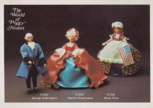 Martha George Washington USA President Doll The World Of Peggy Nisbet Postcard