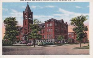 High School & Manual Training School, Ashland, Wisconsin, 1930-1940s