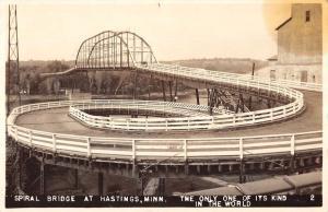Hastings Minnesota Spiral Bridge Real Photo Antique Postcard K105840