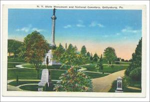 NY Monument & National Cemetery, Gettysburg PA