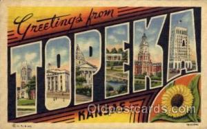 Topeka, Kansas Large Letter Town Towns Post Cards Postcards  Topeka, Kansas USA