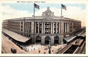 Massachusetts Boston South Station 1923