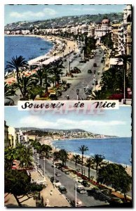 Old Postcard The French Riviera Nice's famous Promenade des Anglais