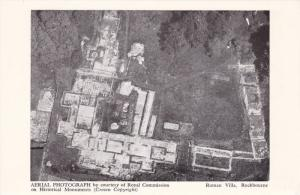 Aerial View, Roman Villa, Rockbourne, Hampshire, England, UK, 1910-1920s