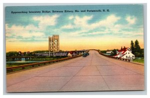 Vintage 1937 Postcard - Interstate Bridge Kittery Maine Portsmouth New Hampshire