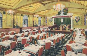 Main Dining Room Odenbach Restaurant - Rochester, New York - pm 1948 - Linen