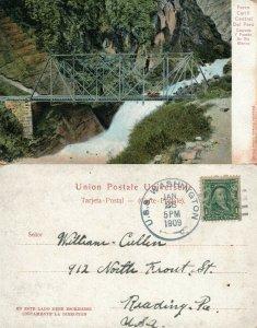 FERRO CARRIL CENTRAL DEL PERU BRIDGE 1909 ANTIQUE POSTCARD