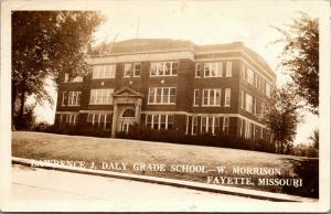 Fayette Missouri~Lawrence J Daly Grade School~West Morrison~1940 RPPC