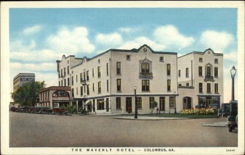 Columbus Ga Waverly Hotel Postcard