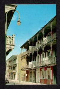 LA Royal St lace Balcony New Orleans Louisiana Postcard Carte Postale PC