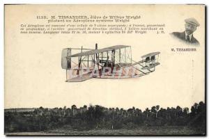 Old Postcard Jet Aviation Tissandier high Wilbur Wright flying an airplane Wr...