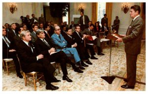 President Reagan addresses  Senate Republicans