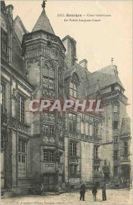 Old Postcard Bourges Inner courtyard of the Palace Jacques Coeur