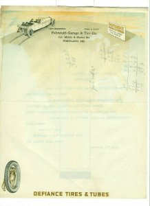 1919 Falmouth Garage & Tire Co. to The Fisher Body Corp, MI Letter Head LH1.