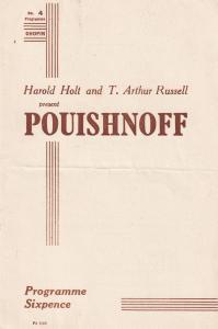 Pouishnoff Chopin Recital 1940s Classical Theatre Programme