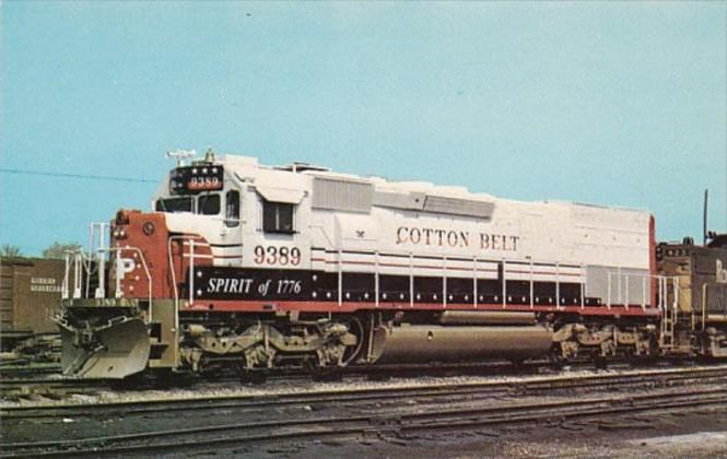 Trains Cotton Belt Railway Spirit Of 1776 SD45T-2 Locomotive #9389 At Blue Is...