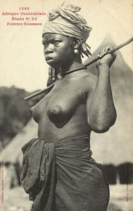 CPA Senegal Ethnic Nude Fortier - 1343. Étude N 22 Femme Soussou (71004)