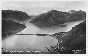 Italy Lago di Lugano. Ponte di Melide, Ditta G. Mayr, Lugano 1935