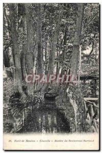 Postcard Old Meudon Chaville Foret De Riviere du Restaurant Barraud