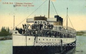 CPR SS Princess Charlotte  Ferry Ship Postcard Post Card  CPR SS Princess Cha...