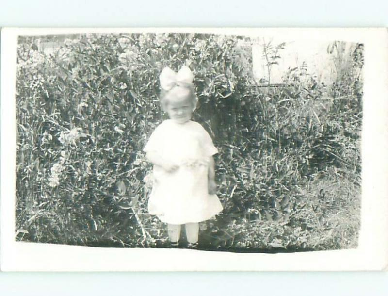 rppc Pre-1918 GIRL WITH BOW IN HAIR AC7608