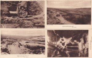 Haworth Bridge Falls Charlotte Bronte 4x Antique Aerial Yorkshire Postcard s