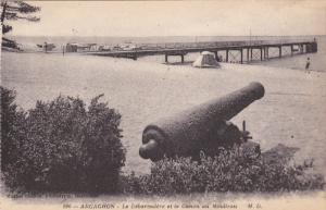 ARCACHON, Gironde, France, 1900-1910´s; Le Debarcadere Et Le Canon Au Moulleau