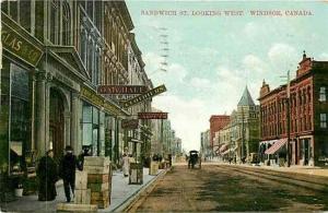 Canada, Ontario, Windsor, Sandwich Street Looking West No. 2549