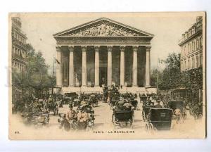 191626 FRANCE PARIS Madeleine Vintage 1900 year RPPC to RUSSIA