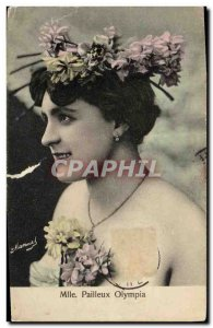 Old Postcard Fantaisie Miss Olympia Pailleux