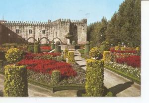 Postal 034024 : Braga. Portugal. Jardin de St. Barbara. Al fondo el antiguo P...