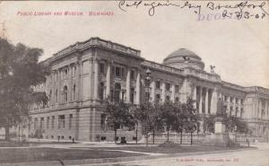 MILWAUKEE, Illinois; Public Library and Museum, PU-1907