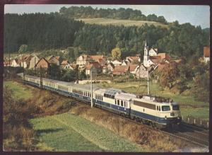 German Rheinpfeil Spessart Railroad Passenger Commuter Train Postcard
