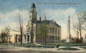Court House & Monument - Waukegan, Illinois IL
