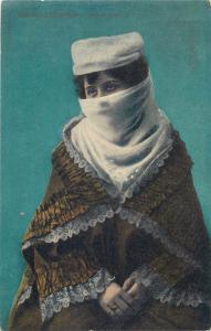 Turkish veiled costume ethnic woman Constantinople Turkey