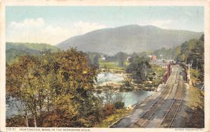 Huntington (Knightville?) MA Detroit Publishing #11931~Double RR Bridge c1910 PC