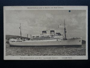 Shipping Africa Union Castle Line  MV LLANGIBBY CASTLE 12039 Ton c1930s Postcard