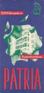 Poland Patria Sanitarium Vintage Luggage Label lbl1630