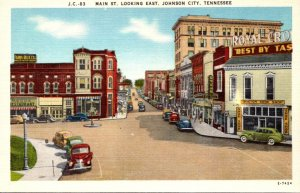 Tennessee Johnson City Main Street Looking East