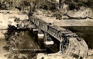 WA - MWAK Bridge Construction, 1935. Big Bend, Coulee Dam. *RPPC