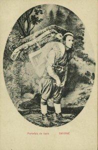 turkey, SMYRNA SMYRNE IZMIR, Carpenter Carrier (1910s) Postcard