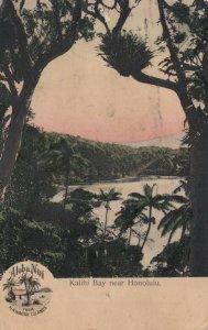 HONOLULU , Hawaii , 1908 ; Kalihi Bay ;  Aloha Nui