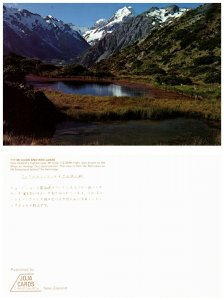 NEW ZEALAND Postcard MT. Cook and Red Lakes (PC6)
