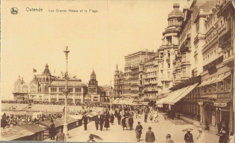 Belgium Ostende Les Grands Hotels et la Plage 02.74