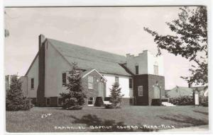 Emmanuel Baptist Church Mora Minnesota RPPC real photo 1950s postcard