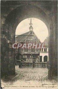 Old Postcard Joigny (Yonne) Bois House for St. John Porch