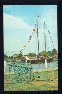 Mystic, Connecticut/CT Postcard, Fishing Schooner L..A.. Dutton Of Boston
