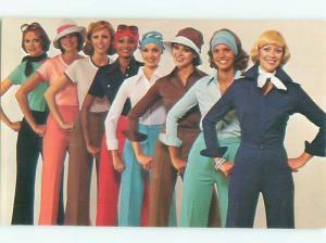 1977 Fashion Postcard Ad QUEENS WAY TO FASHION AC7336